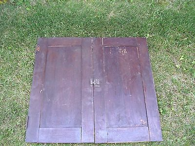 "Antique Vintage Pair Cabinet Doors from Old School Chemistry Lab 30"" Tall"