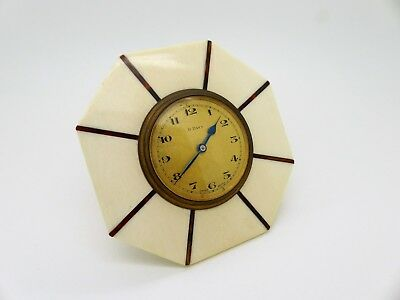 Antique Swiss made 8 day strut clock 1920's Art Deco Extremely Rare