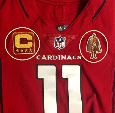 32d92e612 2017 ARIZONA CARDINALS Larry Fitzgerald WR Walter Payton Man of the Year  PATCH
