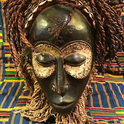 African hand carved chokwe DRC/congo,Angola mask