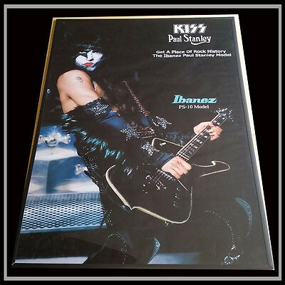 Kiss Paul Stanley Ibanez 1978 Quality! Promo Poster Gorgeous  - Repro -  Ps10