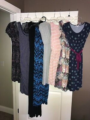 Lot of 8 maternity dresses size small for work office casual baby shower