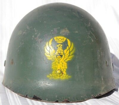 Us M1 Helmet Liner Used By The Italian Polizia Post Wwii 1950's Italy