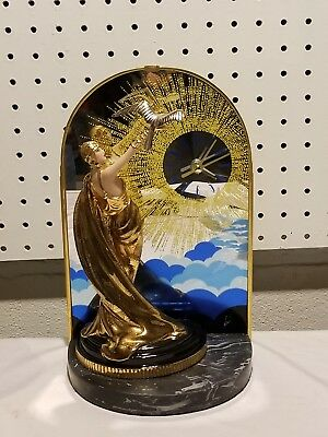 House Of Erte Wings Of Time Art Deco Limited Edition Figurine Clock Beautiful