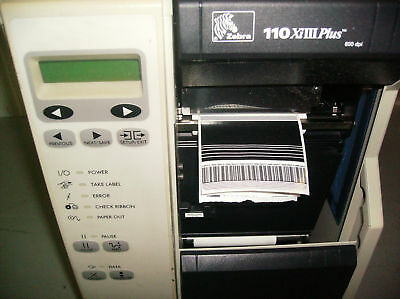Zebra 110XiIII Plus 600 dpi Thermal Printer with Ethernet card installed 69
