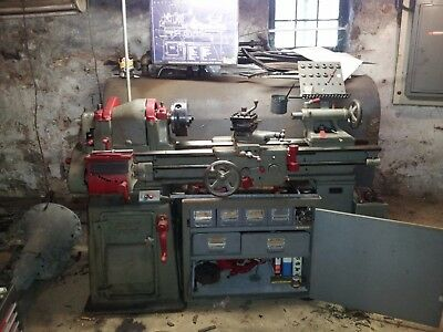 "SOUTH BEND LATHE 16"" x 6 ft bed -1950's Vintage Good Working Order"