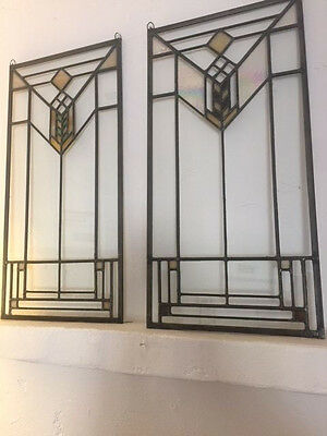 stained glass panels by Tiffany Stained Glass LTD, Chicago