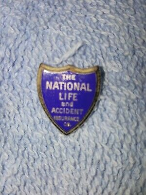 Vintage NATIONAL LIFE & ACCIDENT INSURANCE Sterling Lapel Pin