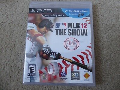 MLB 12: The Show (Sony PlayStation 3, 2012) Brand New!