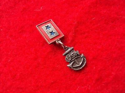 Sterling WWII *Two sons* in the service US Navy sweetheart homefront pin