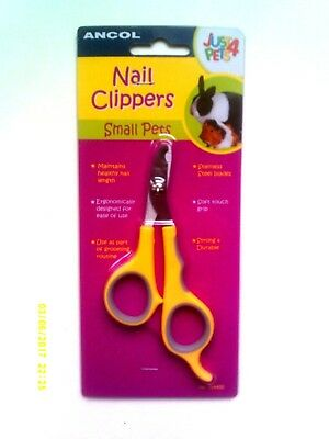 Ancol Just 4 Pets - Small Pet Nail Clippers - Stainless Steel Blades - New