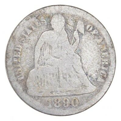 Historic 1890 Seated Liberty Dime *963