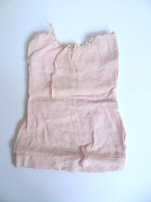 """Vintage Shirley Temple Dolls Pink Seer Sucker Nightgown 1930's 16"""" Doll"""