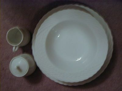New Sasaki Wings 5 pc Completer Set Veg Bowl, Platter, Sugar & Creamer