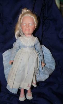 """Vintage Doll- Eegee- MA BROWN in Blue Gingham with Apron 15"""""""