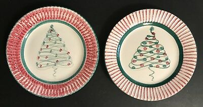 SET OF 10 GAIL PITTMAN SALAD or DESSERT PLATES - CHRISTMAS - RETIRED PATTERN