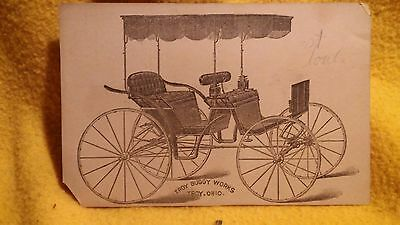 Victorian Trade Card - Troy Buggy Works - Troy, Ohio