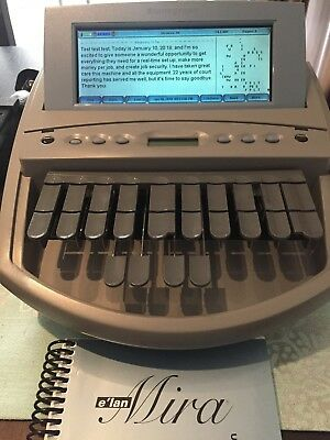 Stenograph Elan Mira Writer with Audio Sync A3 plus Stenograph Duet Rolling Bag