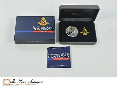 1911-2011 Australia 100th Anniv. RMC Duntroon 1 OZ. Silver Proof/Badge Set *XE18