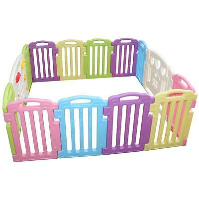 Baby Playpen Kids 14 Panel Safety Play Center Yard Home Indoor Outdoor Pen 122