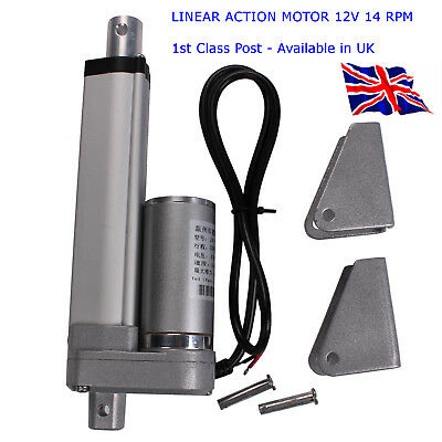 DC 12V 200N - 200mm Stroke Tubular Motor Linear Actuator Motor - available in UK