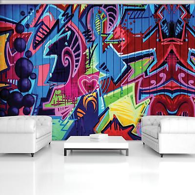 Photo Wallpaper Mural Non-woven 0072268D13 Colourful Graffiti
