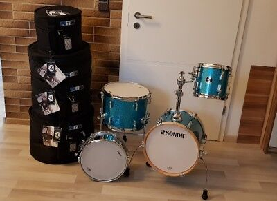 Sonor Martini SE Special Edition Turquois mit Case Protection Racket