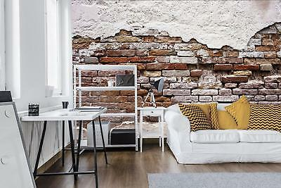 Photo Wallpaper Mural Non-woven 0166431D13 Tattered Old Red Brick Wall
