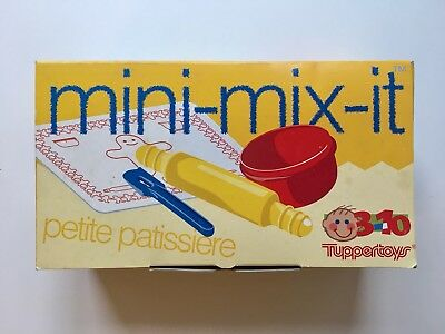 Tupperware Tuppertoys mini-mix-it Backe-Backe-Kuchen Backset Kinder Vintage 1994