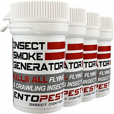 Entopest Cluster Fly Killer Insect Smoke Pest Bomb (Permethrin 13.25% 4 pack)