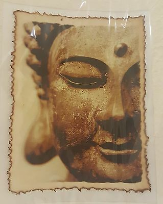 Coffee Painting Art Thai Budha Mulberry Paper Hang Wall Decoration Home