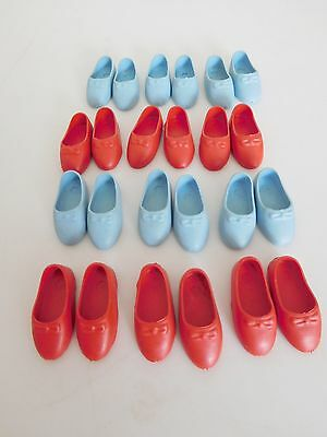 Vintage Penny Brite, Pepper Rubber Shoes Generic Old Store Stock 12 Pr. Blue Red