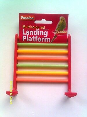 Budgie Landing Platform - Multicoloured - Suitable For All Small Birds - New