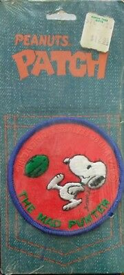 Vintage 1971 SNOOPY THE MAD PUNTER  Schultz Peanuts Patch, Mint In Package.