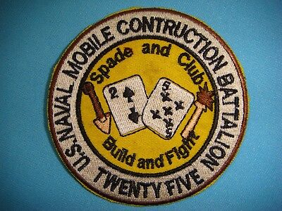 PATCH US 25th NAVAL MOBILE CONSTRUCTION BATTALION -  BUILD AND FIGHT