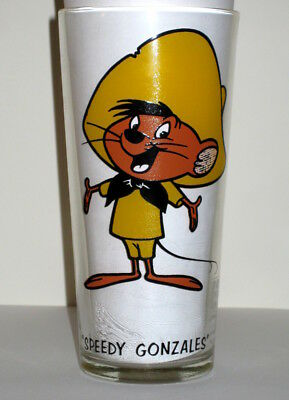 Vintage Warner Brothers 1973 Collector Series Pepsi Promo Glass SPEEDY GONZALES