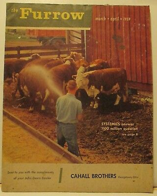 The Furrow John Deere Magazine March April 1959 Cahill Brothers Georgetown Ohio