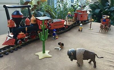 Playmobil Western Train Steaming Mary Set 4034 in Top-Zustand plus Kutsche 3245