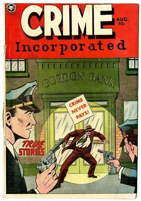 Crime Incorporated #2 VG 4.0 off-white pages  Fox Feature  1950  No Reserve