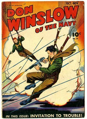 Don Winslow of the Navy #29 VG 4.0 off-white pages  Fawcett  1945  No Reserve