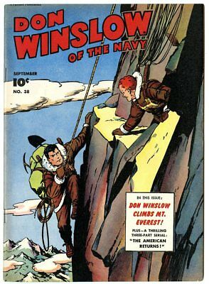 Don Winslow of the Navy #38 VF 8.0 ow/white pages  Fawcett  1946  No Reserve