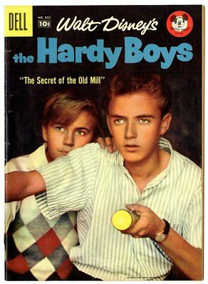 Four Color #830 FN+ 6.5  The Hardy Boys  Photo Cover  Disney  Dell 1957  No Resv