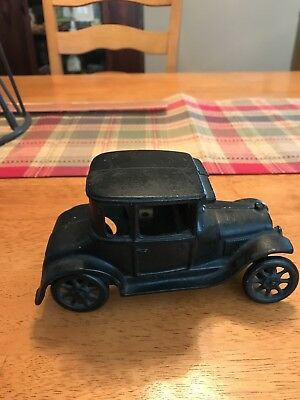 Vintage 1920s ARCADE Cast Iron Model T Ford Coupe Toy Car Antique - Black