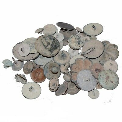 Nice Lot Of 50 Spain Spanish Bronze Unclean & Clean Buttons , Nails & Pendants