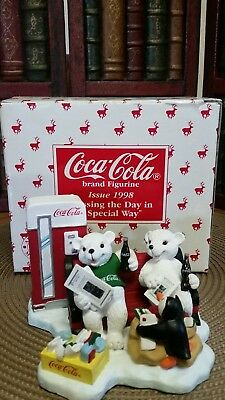 """Coca-Cola Figurine 1998 """" Passing The Day in a Special Way """""""