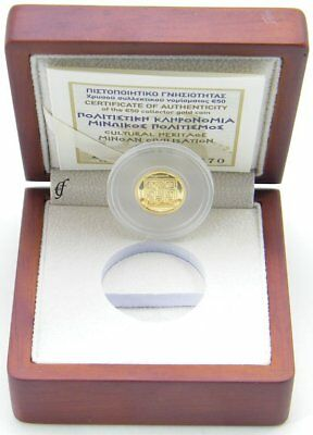 Griechenland 50 Euro Gedenkmünze Gold 2017 Minoan Civilisation PP / Proof