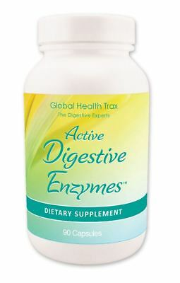 ACTIVE DIGESTIVE ENZYMES Probiotic IBS Aids Digestion - 90 Caps - Fast P&P