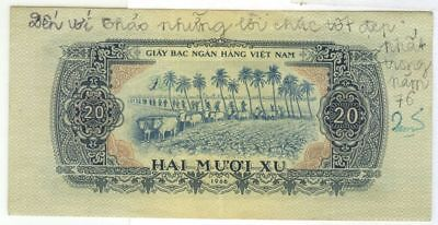 North Vietnamese Vietcong MPC Military Payment Certificate 2nd Issue 20¢ 1966
