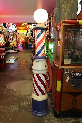 Early 1900s Vintage Barber Shop Pole Floor Model Theo A Kochs Electric