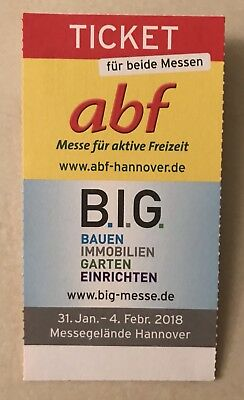 Ticket abf / B.I.G. 31.1.-4.2.2018 Messe Hannover